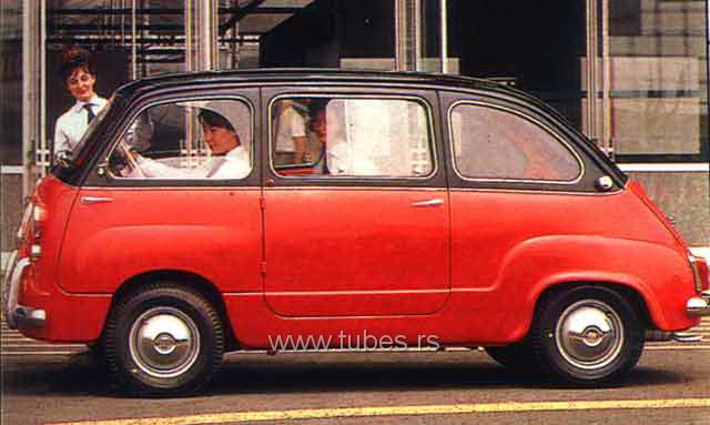 fiat multipla 600. Fiat 600, 600D, Zastava 750,