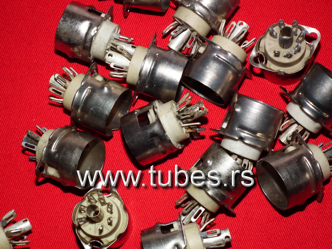 7 Pin Tube Sockets B7G NOS