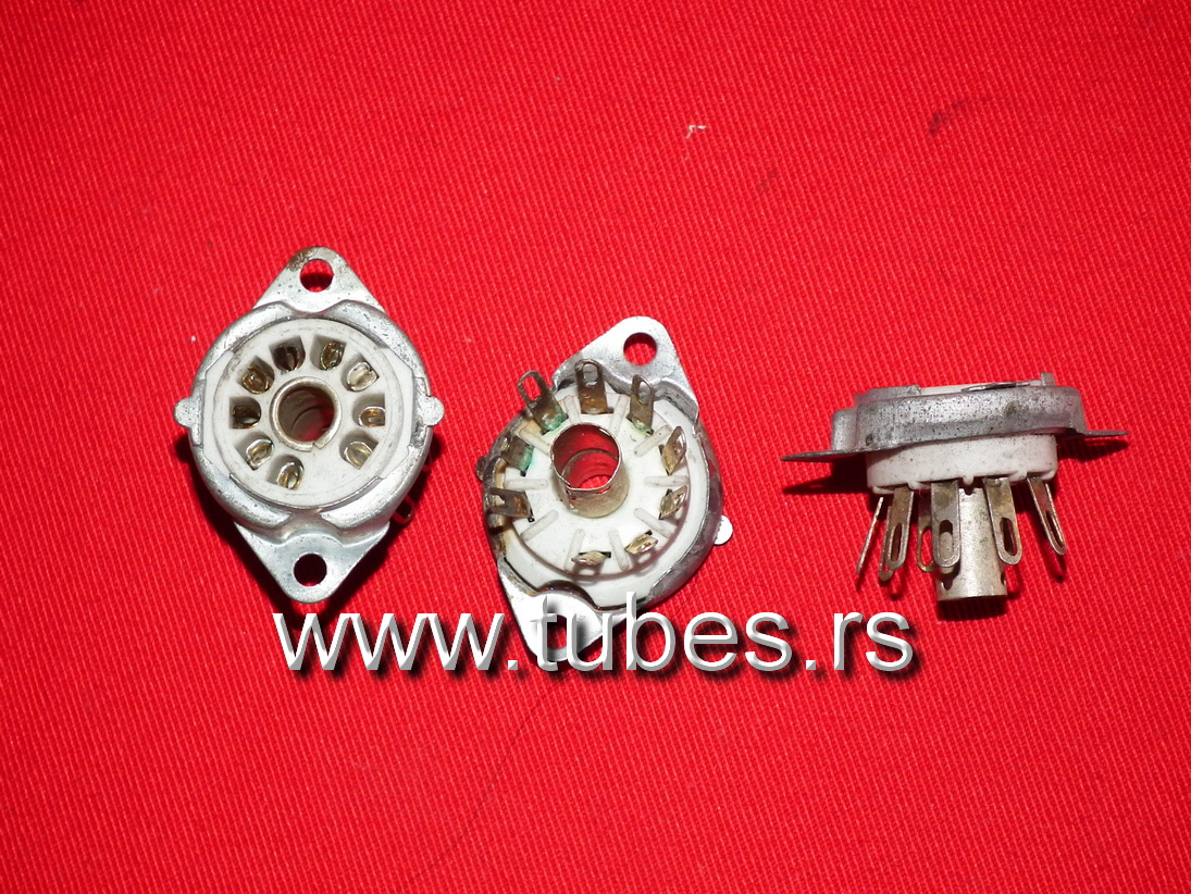 9 Pin Tube Sockets B9A Noval NOS