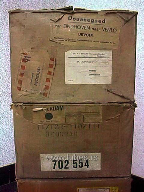 Original NOS tubes packaging bulk boxes