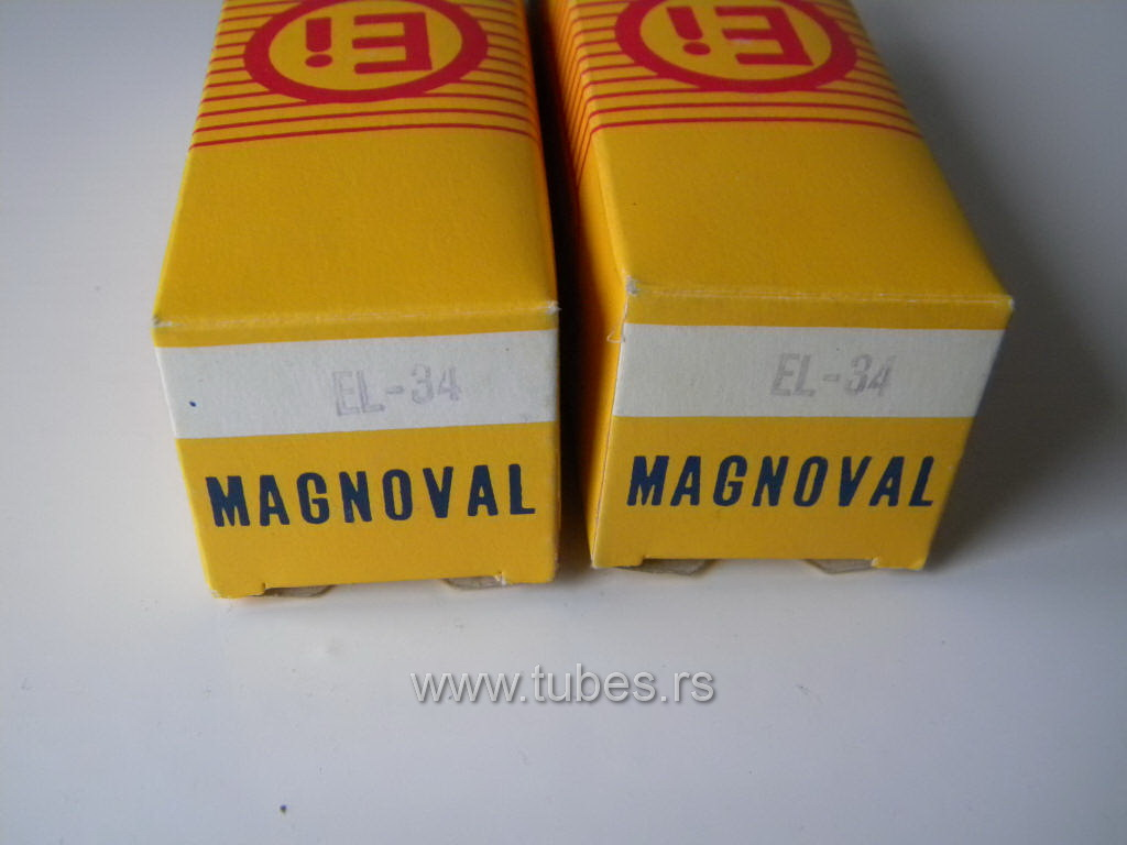 EL34 6CA7 EI Yugoslavia Boxes NOS