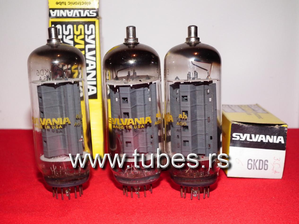 6KD6 Beam power tube Sylvania