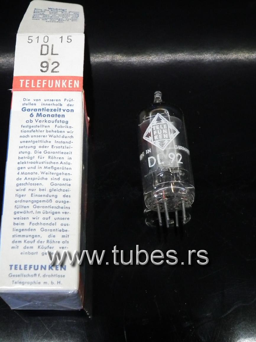 DL92 Telefunken 3S4 Battery Pentode