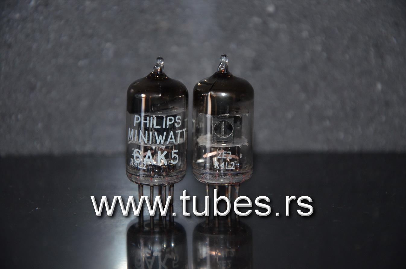 5654 Philips Miniwatt EF95 Square Getter NOS