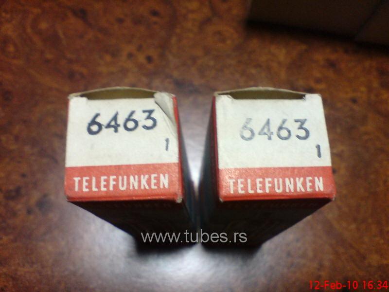 6463 Telefunken double triode