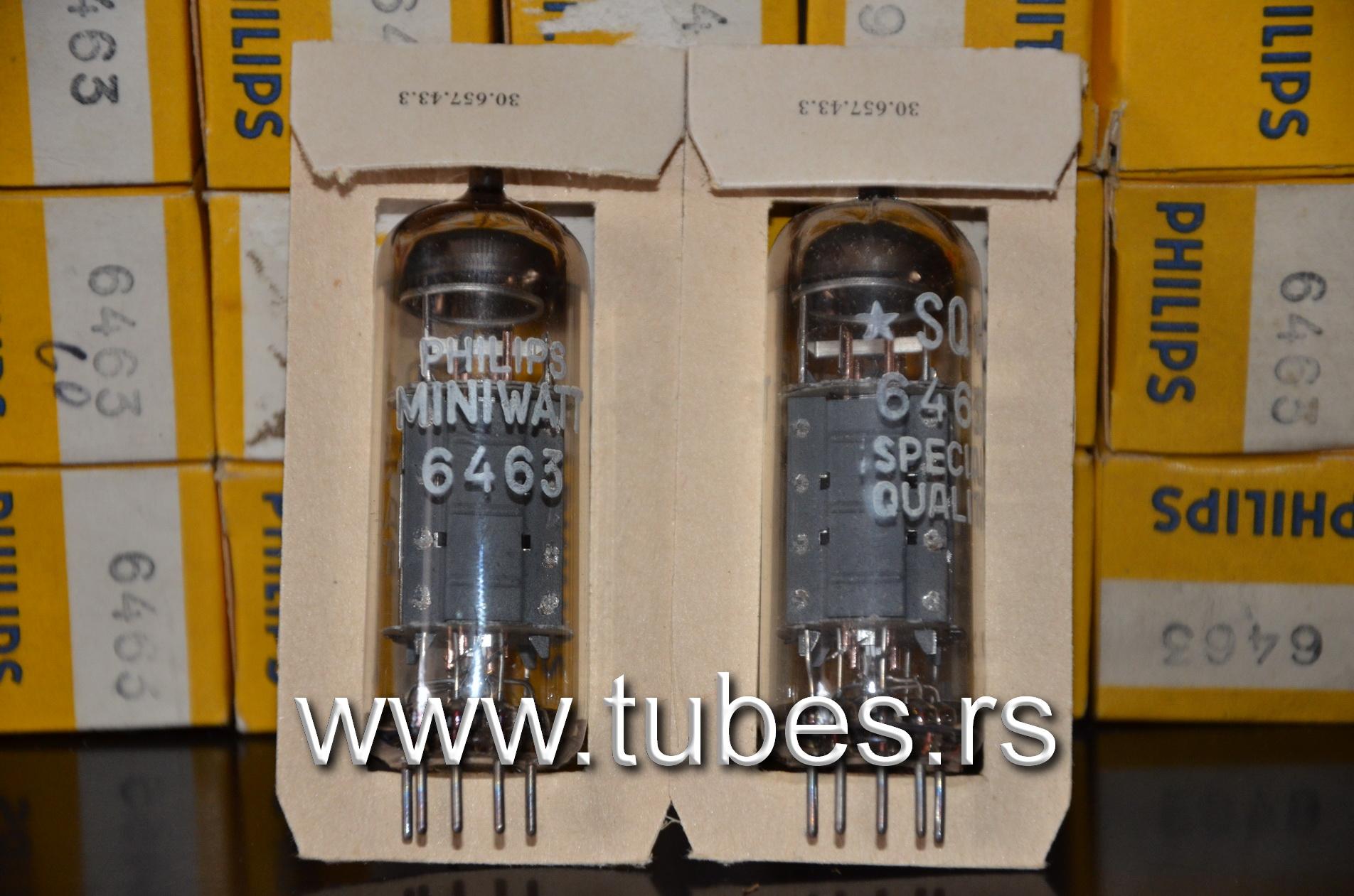 6463 Philips Miniwatt Audio Tekn