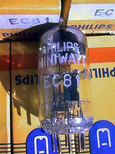 EC81 6R4 philips miniwatt triode