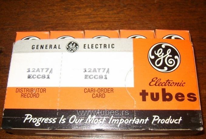 12AT7 ECC81 General Electric