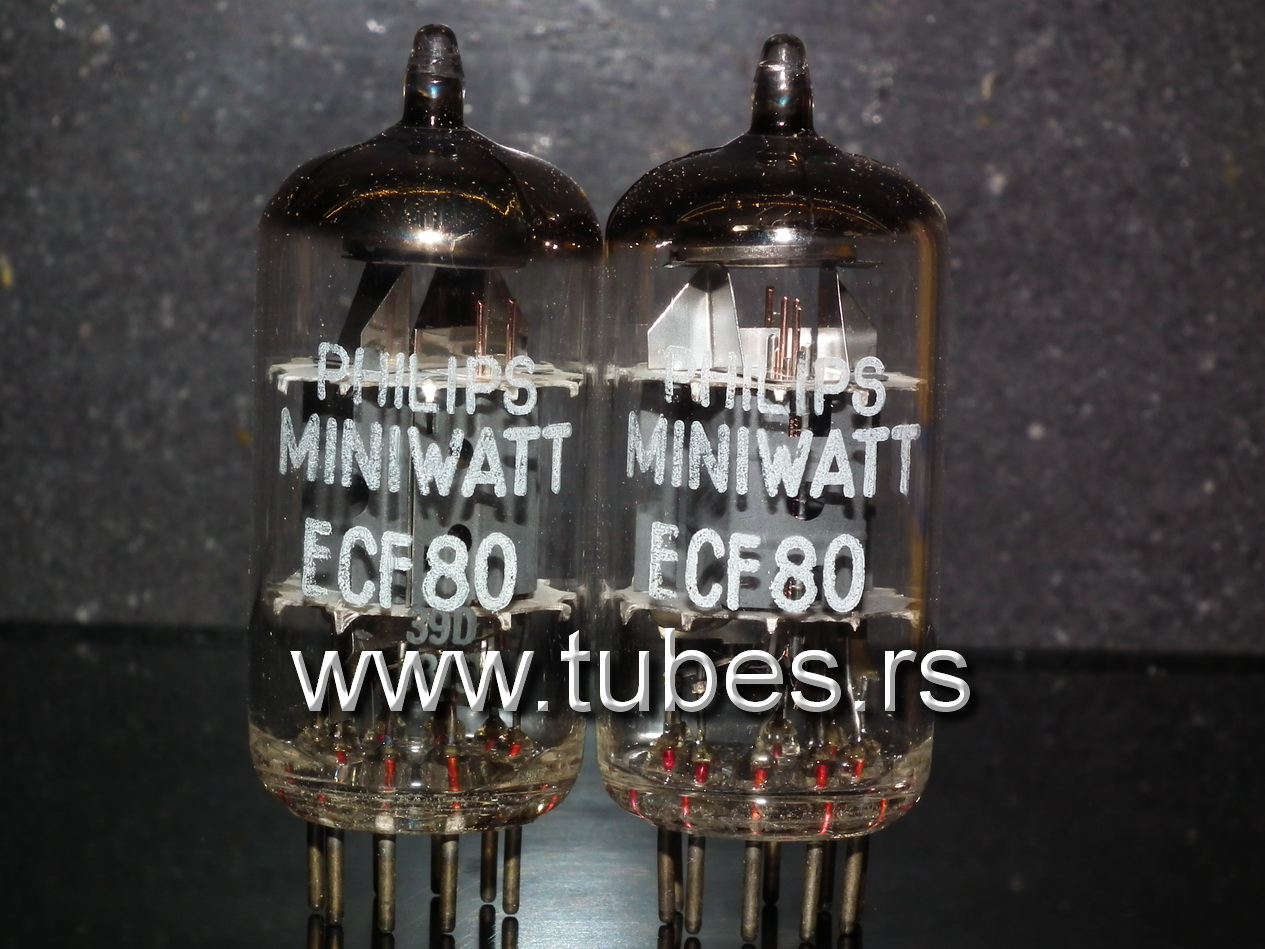 Ecf80 6bl8 Philips Tube Amplifiers Nos Tubes Vacuum Schematics Se Ad1 Ecc35 Amplifier