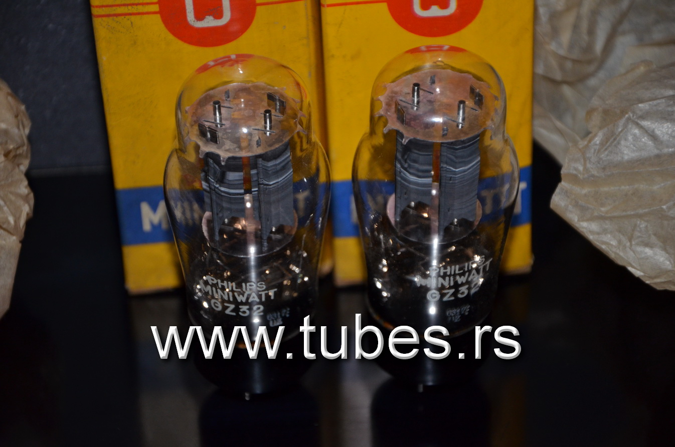 GZ32 Philips 5V4G Made in England