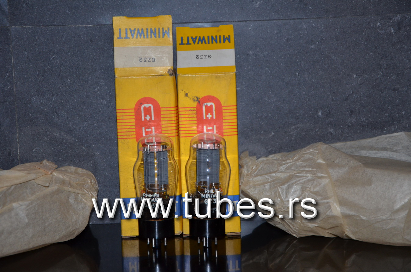 GZ32 Philips DD getter 5V4G Made in England