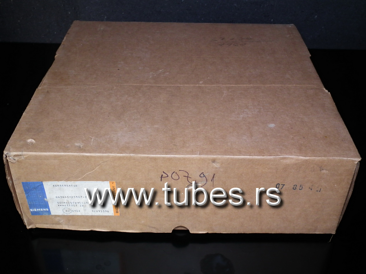 NOS electrolytic capacitor Siemens 100mfd 450V Western Germany