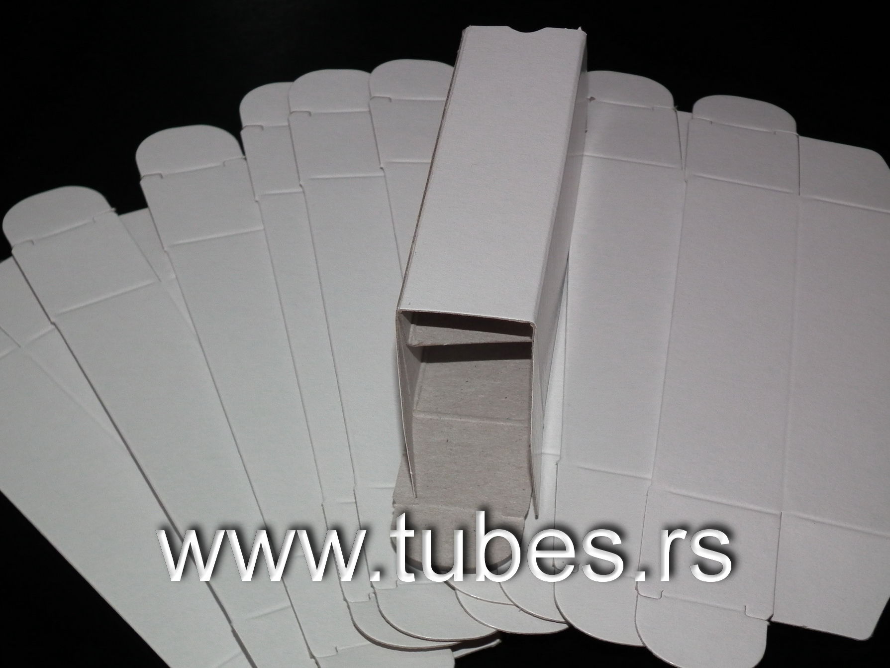 White Empty Noval Size Vacuum Tube Boxes
