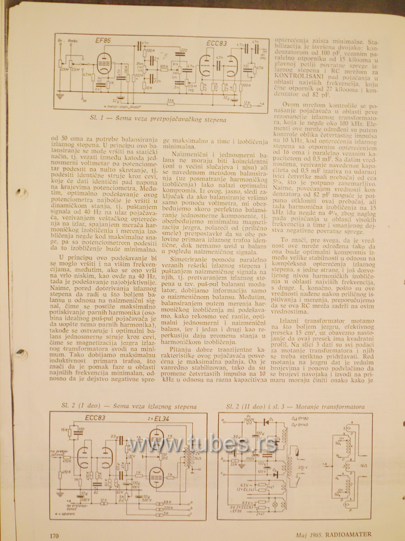 Push Pull Amplifier With El34 6ca7 And 12ax7 Ecc83 Schematic Schematics