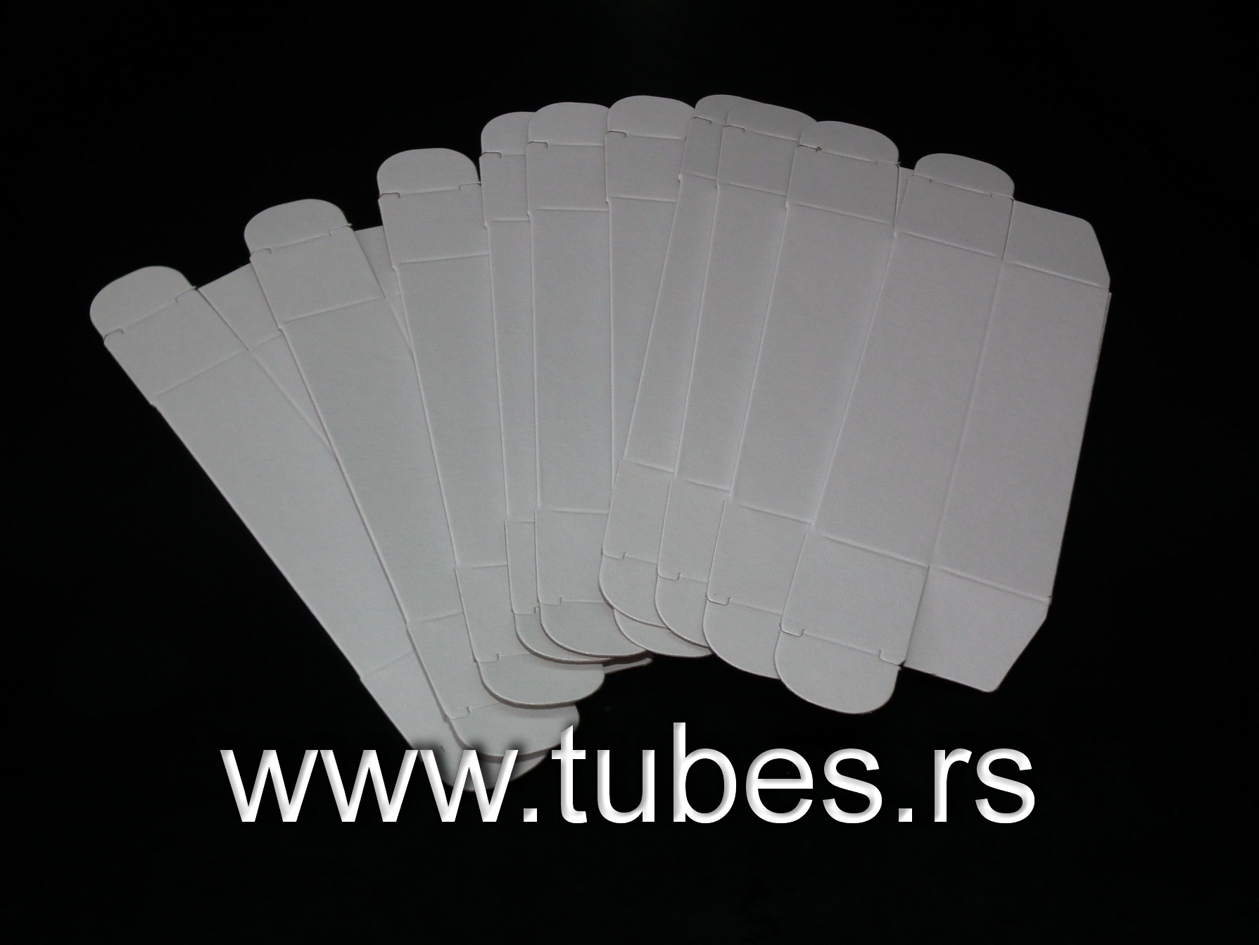 White Noval Tube Boxes